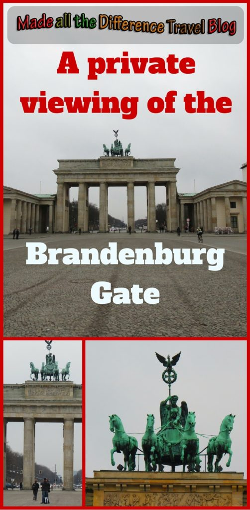One of my favorite sites while visiting Berlin, Germany was my early morning almost private viewing of the Brandenburg Gate.